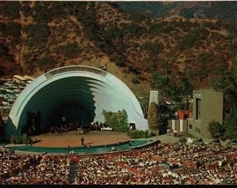 Hollywood Bowl + Hollywood, California + Vintage Postcard