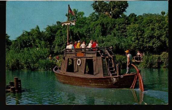 Gullywumper Keel Boat - Frontierland - Disneyland - Anaheim, California - Vintage Photo Postcard