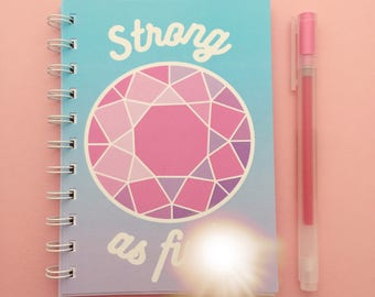 Strong As F*ck A6 Weightlifting Spiral Bound Pocket Gym Notebook