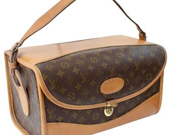 Louis Vuitton French Company Train Case Travel Beauty Bag Monogram Rare 70s