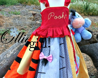 Winnie the Pooh and Friends 100 Acre Woods Panel Dress by Boutique Ollie Girl!
