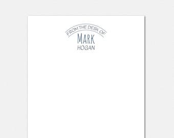 Modern Polka Dot Notepad - Personalized Notepad for Men - From The Desk Of Notepad - Personalized Notepad - Personalized Stationery for Men