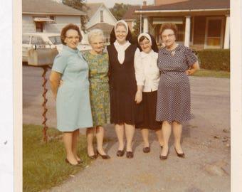 Ladies and Nuns - Found Photograph, Original Vintage Photo, Photograph, Old photo, Snapshot, Photography,