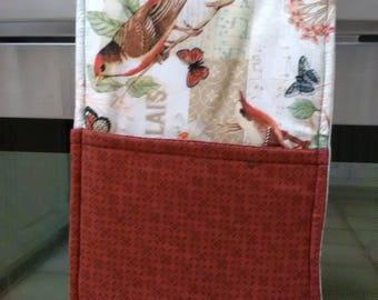 Handmade Double Oven Cassrole Mitt Birds Music Nature Hot Pad Hot Pot Holder Trivet Gift