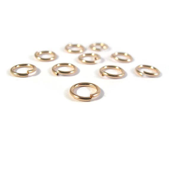 8mm Open Rings, Ten (10) 14/20 Gold Filled Jump Rings, 18 Gauge, Jewelry Findings, Gold Rings, Connectors, Strong Jump Rings (Gj108)