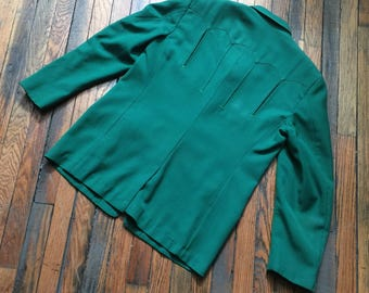 Gross Vintage Western Wear custom made suit for Mel Price from Marty Stuart Collection lined jacket wool gabardine topstitching arro