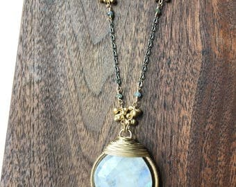 Teardrop Wrapped Necklace
