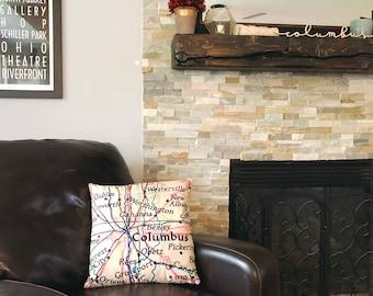 Custom Map Throw Pillow - Custom Map Pillow - Map Toss Pillow - Home Decor - Custom Pillow - Map Couch Pillow - Map Sofa Pillow