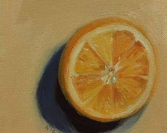 Orange Offcenter Painting