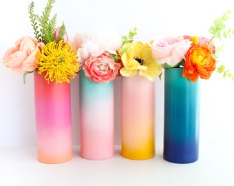 Gradient Ombre Flower Vase - Choose your color
