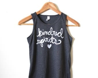 Kindred Spirits - Matching Shirts - Anne of Green Gables - Best Friends Gifts - Sisters - Girls' Tanks.  MADE TO ORDER