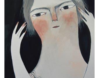 Grey lady - Giclee print