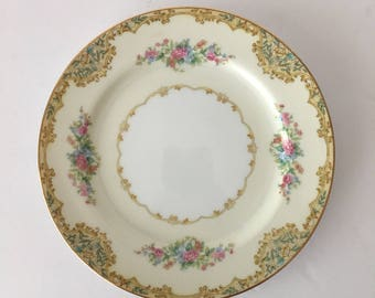Noritake Alvin Salad Plate 7 5/8 Replacement Fine China 1930's English Garden Floral
