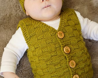 Theodore Vest and Hat - Baby Cakes by lisaFdesign - Bc68 - Download Now - Pattern PDF