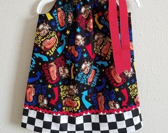 Cars Dress, Girls Dress, Pillowcase Dress, Cars Party, Cars Clothes, Lightning McQueen, Tow Mater, Girls Cars Dress, Cars Birthday