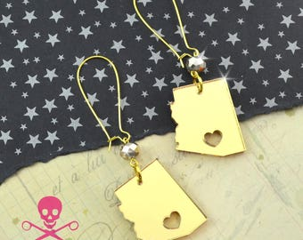 ARIZONA LOVE - Gold Laser Cut Acrylic Earrings