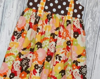 Going out of Business SALE,  Girls Dress, Knot Dress, Spring Dress, Size 7/8 dress, Ready to ship