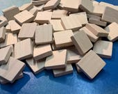"Set of 320 Square 13/16"" Wooden Tiles - Unmarked - Reserved"