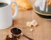 Gift For Him - Coffee Pour Over - Coffee Scoop - Valentines Day Gift for Him - Coffee Gifts for Him - Black and Brown - Gifts Under 25