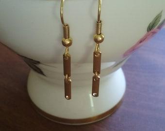 Dangle Earrings, vintage earrings, gold plated ear wires *Free Shipping!