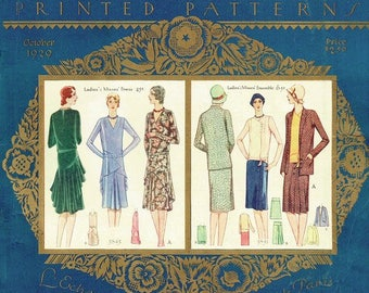 Vintage Sewing Pattern McCall Counter Catalog Complete Copy October 1929 PDF Digital Copy