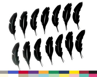 Feather Die Cuts 4 Inch Tall Set of 14 Party Table Decoration Confetti SMASH Books Crafts Shower Party Decorations Supply 20 Colors