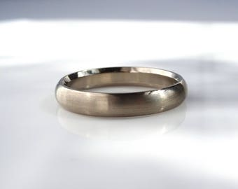 Curved Wedding Band in your choice recycled gold, 1/2 round band handmade custom stacking ring