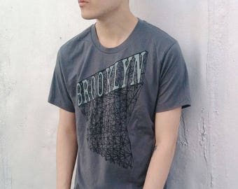 Mens Brooklyn T-shirt in Grey