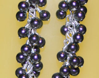 Swarovksi pearl Grape Cluster Earrings
