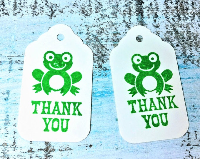 Frog thank you gift tag set