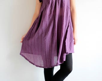 Cozy Mini dress..Linen/cotton blend size M,L,XL 1437