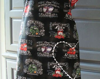Made with Love Reversible Bib Style Apron with Canning Jars Full Length (Adult, Mens, Plus Size, Child, or Baby)