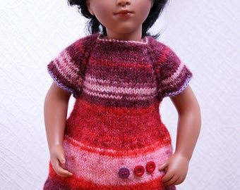Knit tunic #2 for Sylvia Natterer and Sasha dolls