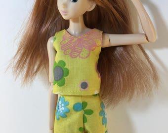 Handmade Blythe Momoko Skipper Moxie type dolls Top Shorts P D Reneau Design (Q811)