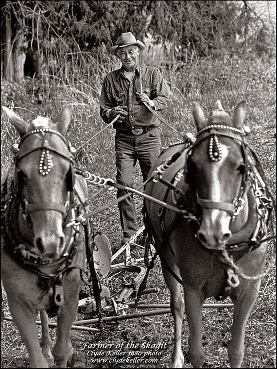Farmer of the Skagit Valley, Clyde Keller photo, 1980