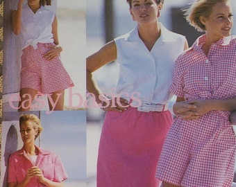 Plus Size Misses Simplicity 8298 Misses Skirt Shorts and Shirt Pattern Summer Casual  Plus Size 16-22
