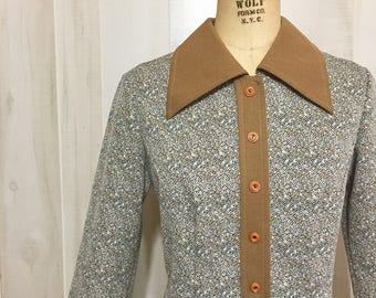 Mod Professional Longsleeve vintage polyester dress size 14