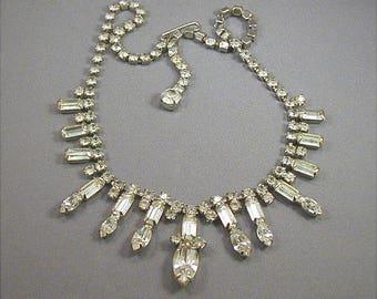 Vintage Kramer Rhinestone Choker Necklace