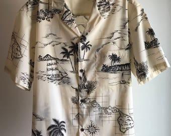 Vintage Royal Creation Hawaiian Mens Shirt Large