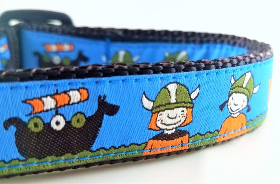 Vikings Dog Collar / Adjustable / Side Release Buckle / Norse / Pet Lover / Small Dog Collar / Large Dog Collar