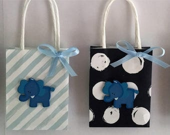 elephant favor bags, Baby Shower favor bags