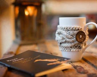 Coffee Cozy, Knit Cup Cozy, Coffee Mug Cozy, Coffee Cup Sleeve, Coffee Cup Cozy, Hygge Decor Tea Cozy Chunky Knit Coffee Sleeve Rustic Gifts