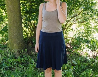 Womens  Short Semi Circle Skirt- Made in the USA - Made to Order -Thrive