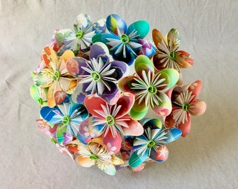 Bridal Bouquet, Alternative Wedding Bouquets, Paper Flower Bouquet, Origami Wedding Bouquet, Wedding Flowers, Bouquet & Boutonniere Set