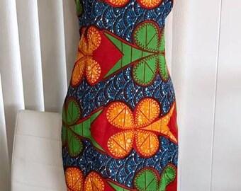 Vintage 1960's Fun Tropical Hawaiian Dress -- Size M -- Tiki Oasis