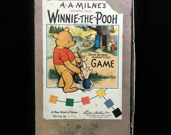 Rare Winnie The Pooh Board Game, Antique Board Game , A.A. Milne, Parker Brothers, Winnie The Pooh, Piglet, Rabbit, Christopher Robin