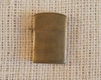 Cigarette lighter,  vintage gold toned lighter, mini key chain cigarette lighter, Made in Japan mini gold toned lighter, tobacciana