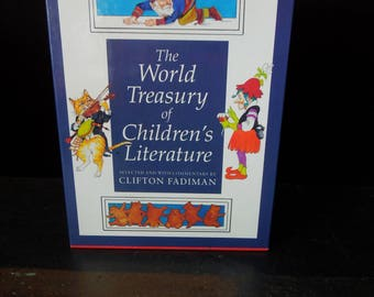 The World Treasury of Children's Literature - FREE SHIP - Children's Vintage Books - First Edition - Two Volumes in Slipcase