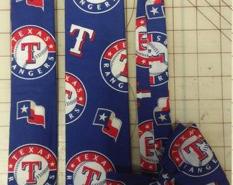 MLB Texas Rangers Neckties in bow tie, skinny tie, and standard tie styles, kids or adult sizes