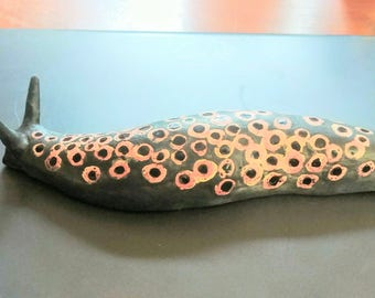 Black Spotted Slug -  Pink and Black - #8